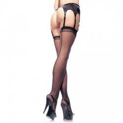 Leg Avenue stockings with back seam Plus