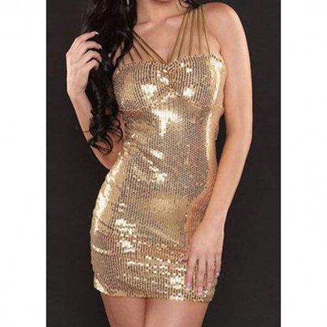 Vestido Lentejuelas Dorado