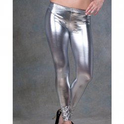 Grey satin leggings