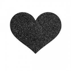 Flash black heart body decoration