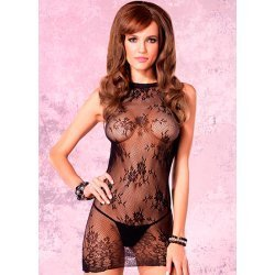 Back vent and Floral lace mini dress