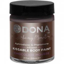 60 ml de peinture de corps de Mousse au chocolat