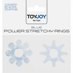 Power Stretchy Anillo para Pene Azul 2 pcs