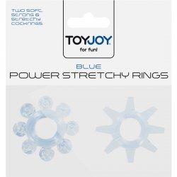Power Stretchy Anillo para Pene Azul 2 pcs