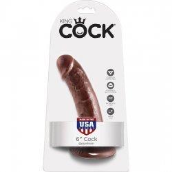 King Cock Pene Realístico 15 cm Marrón