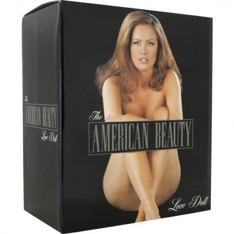 Muñeca Hinchable Americana con Vibrador