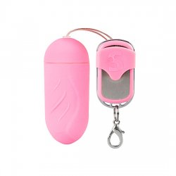 Egg vibrator welted 10 speed Remote Control pink large