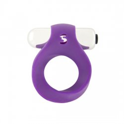 Ring with vibration for penis and testicles lilac