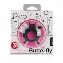 Butterfly Anillo Pene con Vibración Negro