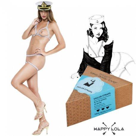 Happy Lola Sailor Straps Blanco - diversual.com