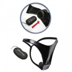 Fetish Fantasy vibrating thong with 10 function Remote Control