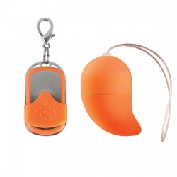 Orange small wireless g-spot vibrator egg