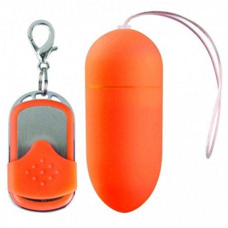 Huevo Vibrador 10 Velocidades Control Remoto Naranja Grande