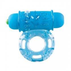 Anillo Pene con Vibrador Azul