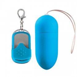 Huevo Vibrador 10 Velocidades Control Remoto Azul Grande