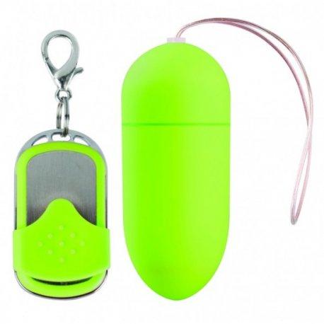 Huevo Vibrador 10 Velocidades Control Remoto Verde Grande - diversual.com