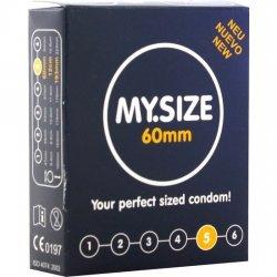 Mes unités de 60 mm 3 préservatifs taille