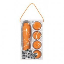 Stimulator with orange interchangeable heads