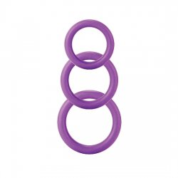 Pack Rings for Penis Three Sizes Purple Twiddle