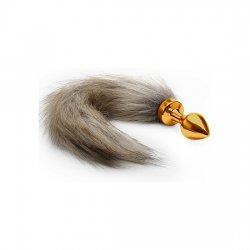 Anal plug tail Fox gold