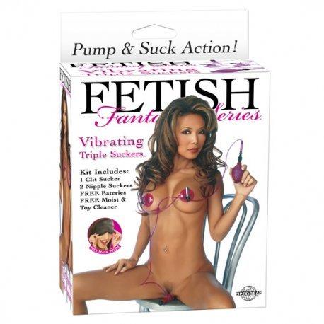 Fetish Fantasy Triple Succionador Vibrador - diversual.com