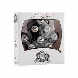 Black massage glove