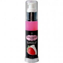 Aceite y Lubricante 2 en 1 Efecto Calor Fresas Nata