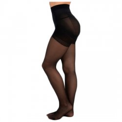 Panty Licra 40 Den Reductor Push Up Lote de 2 Color Negro