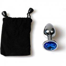 Metal Plug Anal blue bag small