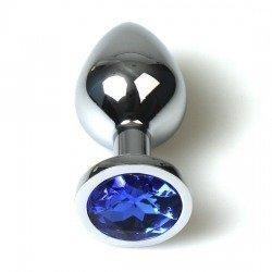 Sac de Plug Anal bleu métal petit