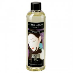 Oil aphrodisiac Shiatsu of massage of Ylang Ylang