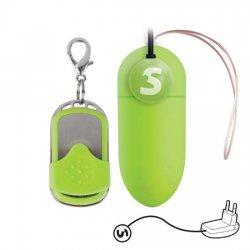 10 vitesses rechargeable oeuf gros télécommande vert