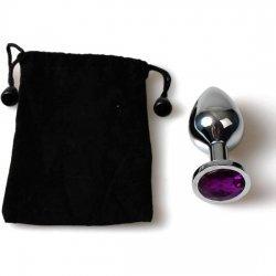 Small purple bag Metal Anal Plug