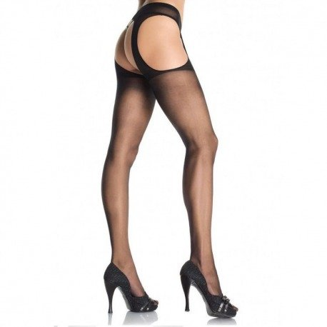 Stockings with garter belt attached Plus
