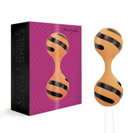 Secret Balls Bolas Chinas Espiral Naranja-Negro