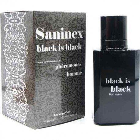 Saninex Perfume Feromonas Black is Black Hombre