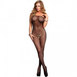 Leg Avenue mesh with rear cleavage