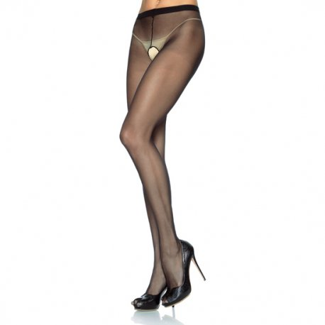 Panties de Nylon con Abertura en la Entrepierna Plus - diversual.com
