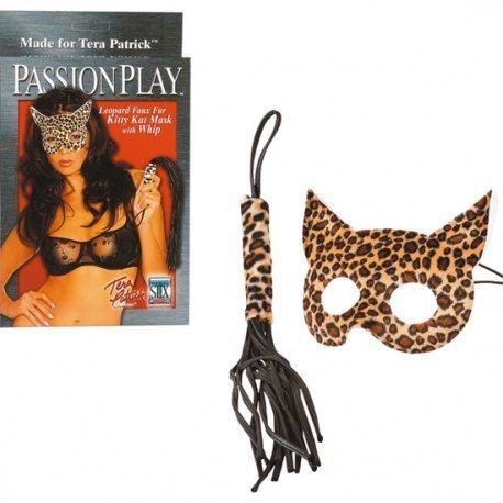Máscara Leopardo Kitty Kat con Látigo
