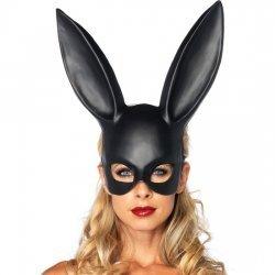 Oreilles de lapin grand masque noir Leg Avenue
