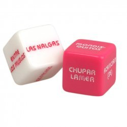 Game of dice erotic pink and white