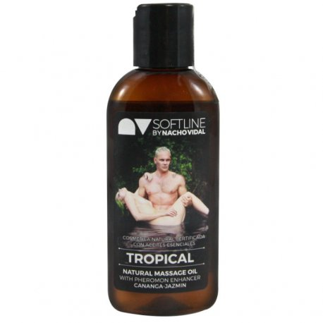 Nacho Vidal Aceite Tropical con Potenciador Feromonas 100 ml - diversual.com