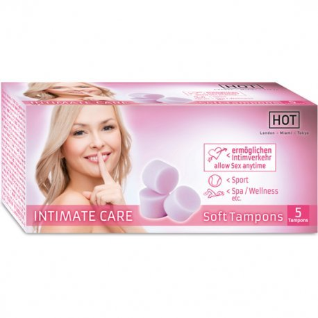 Hot Intimate Care Soft Tampones 5 Uds