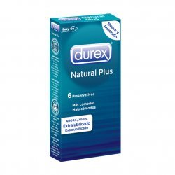 Condoms Durex Natural Plus 6 Uds