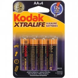 Set 4 batteries alkaline AA LR6 Xtralife Kodak