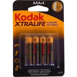 Set 4 AAA batteries alkaline LR3 Kodak Xtralife