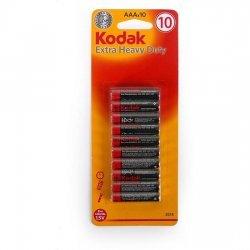 Set 10 Pilas Zinc Extra Heavy Duty AAA Kodak