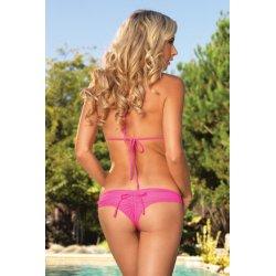 Leg Avenue Bikini de triángulo con Fruncido Fucsia