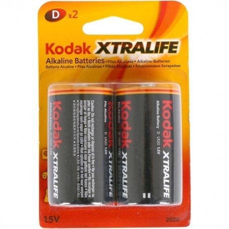 Set 2 Pilas Alkalinas D LR20 Xtralife Kodak