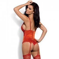 Secred Corset & Panties Rojo